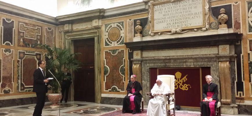 L'Mcl di Avezzano in udienza dal papa