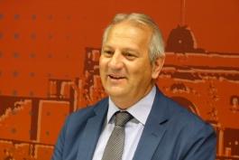 Di Pangrazio saluta il presidente della Corte d'Appello Schiro'