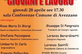 Domani ad Avezzano, convegno dei giovani democratici 'alternanza scuola lavoro'