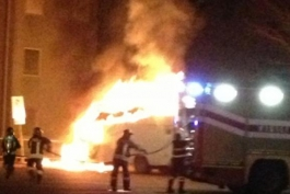 Furgone in fiamme ad Avezzano: incendio doloso?