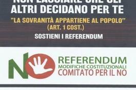 No alla revisione costituzionale: domani raccolta firme in piazza ad Avezzano