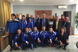 Targa ricordo a Celano per lo Sport Center