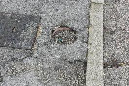 Guardate in foto come si risolve un problema ad Avezzano...