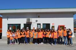 Studenti della Corradini in vista all'impianto di Aielli