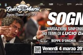 Grande concerto su LUCIO DALLA al Teatro dei Marsi
