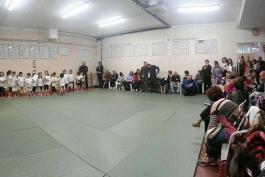 I bambini e le arti marziali, cerimonia alla palestra Koryu' Dojo